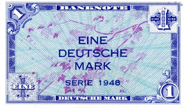 Deutsch Mark Alliés de l'Allemagne de l'Ouest (1948)