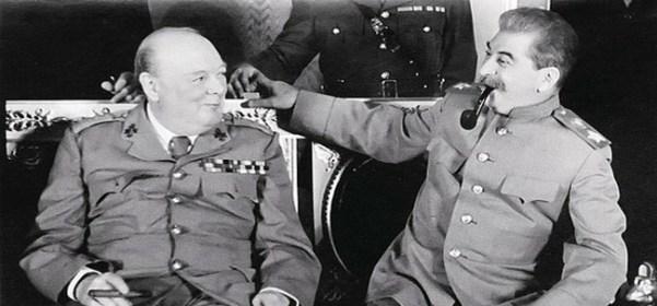 Churchill et Staline au Kremlin, août 1942