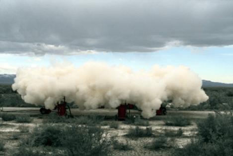 Dissémination de poudre (©Dugway Proving Ground)