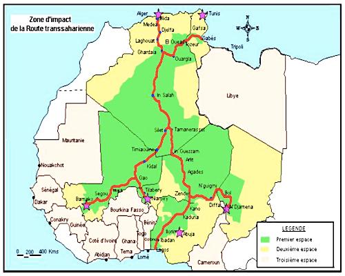 Source : Comité de Liaison de la Route Transsaharienne.
