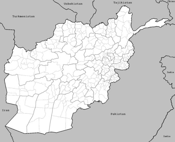 L'Afghanistan et son proche environnement régional. Source : wikipedia