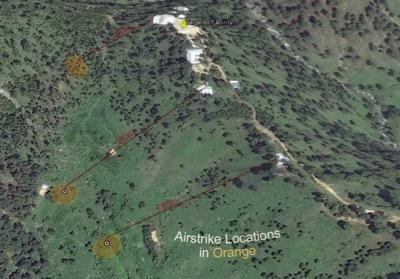 Sites des frappes aériennes de Balakot