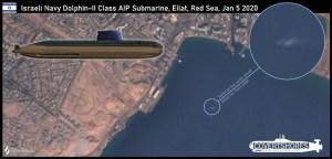 Le sous-marin nucléaire israélien n'a pas continué son chemin vers le Golfe persique