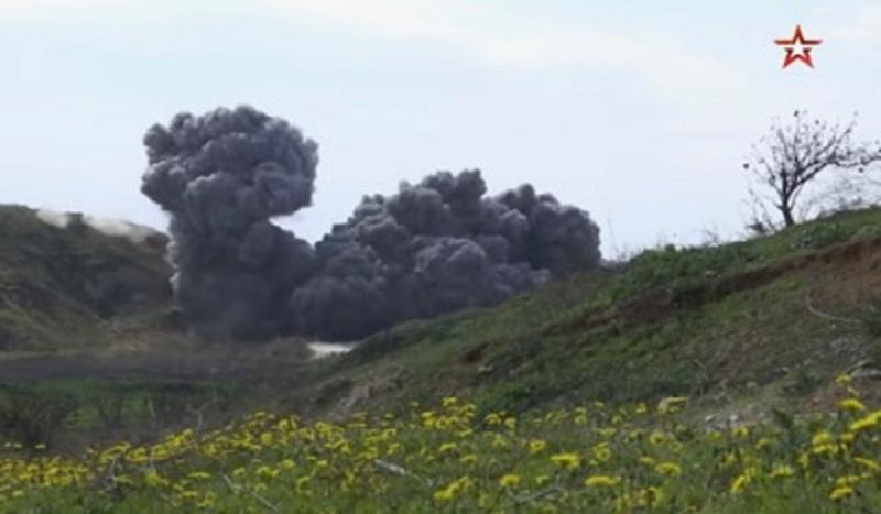 L'armée russe détruit en Syrie un complexe souterrain abandonné