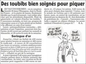 Les toubibs vaccineurs se font des couilles en or… 1 000 euros de l'heure le dimanche
