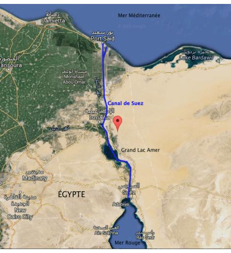 Le canal de Suez et ses alternatives