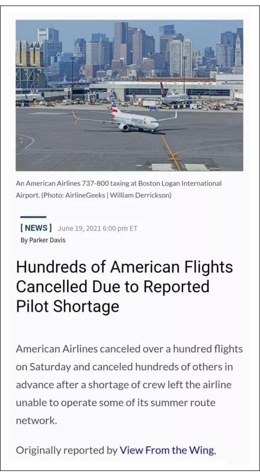 Des milliers de vols annulés alors que des pilotes vaccinés tombent malades ou meurent