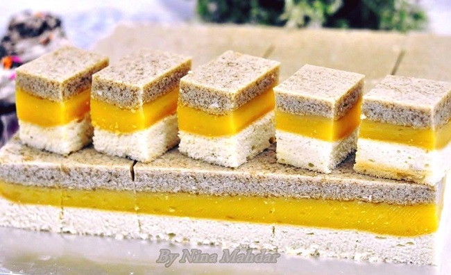 Resepi Kek Puding Santan Gula Melaka