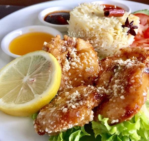 Resepi Nasi Ayam Sos Lemon