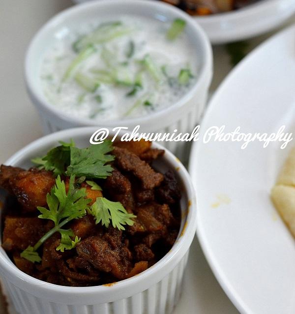 Resepi Keema Daging dan Timun Yogurt