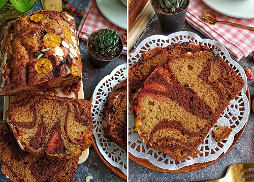 step  step resepi kek pisang bakar sukat cawan foody bloggers Resepi Kek Milo Kukus Sedap Enak dan Mudah