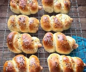cara-buat-bun-sosej-menggunakan-breadmaker