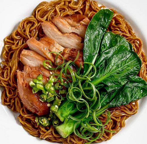Resepi Wantan Noodle Dengan Char Siew Chicken