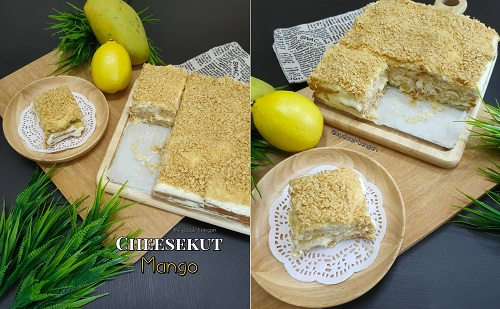 Cara Buat Resepi Cheesekut Mango
