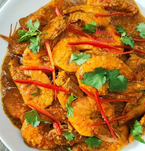 Resepi Udang Kari Panang Thai