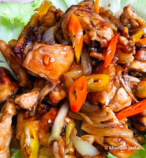 Ayam Masak Sos Tiram Madu Mudah Air Fryer
