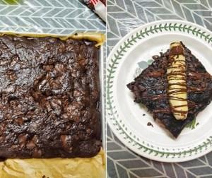 kek-coklat-pisang-mudah-tanpa-guna-mixer