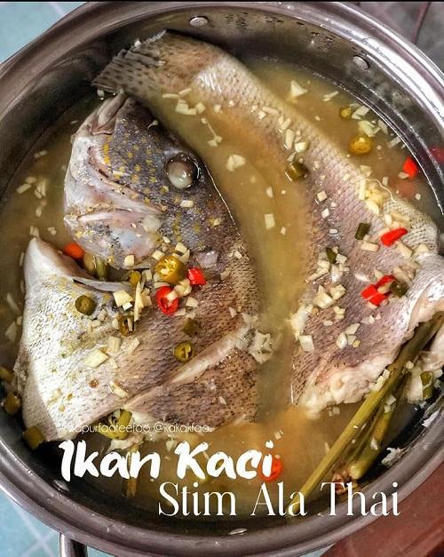 Resepi Ikan Kaci Stim Ala Thai