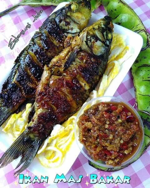 Resep Ikan Mas : resep, Resep, Bakar, Sambal, Super, Lezat, Menggugah, Selera