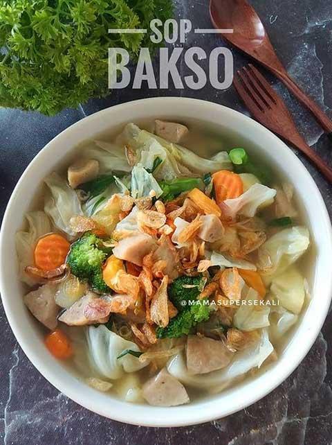 Cara Masak Sayur Sop Enak : masak, sayur, Resep, Bakso, Sayuran, Gurih, Super, Lezat
