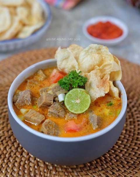 Resep Soto Daging Sapi Jawa Tengah : resep, daging, tengah, Resep, Tangkar, Betawi, Gurih, Super, Sedap