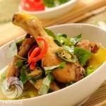 Resep Ayam Masak Daun Melinjo