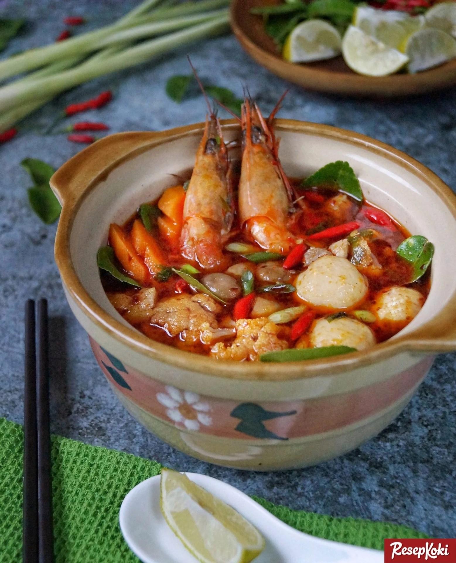 Tom Yam Seafood Lezat Asli Thailand Resep Resepkoki