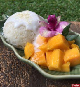 mango, sticky, rice