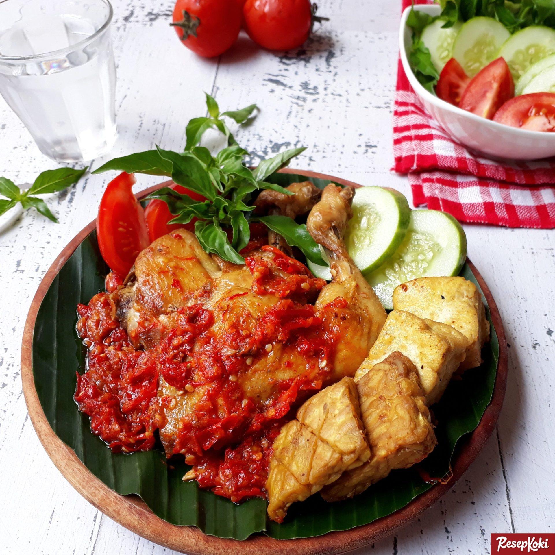 Ayam Penyet Super Pedas Istimewa Praktis  Resep  ResepKoki