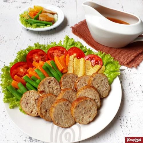 Gambar Hasil Membuat Resep Galantin Daging Sapi