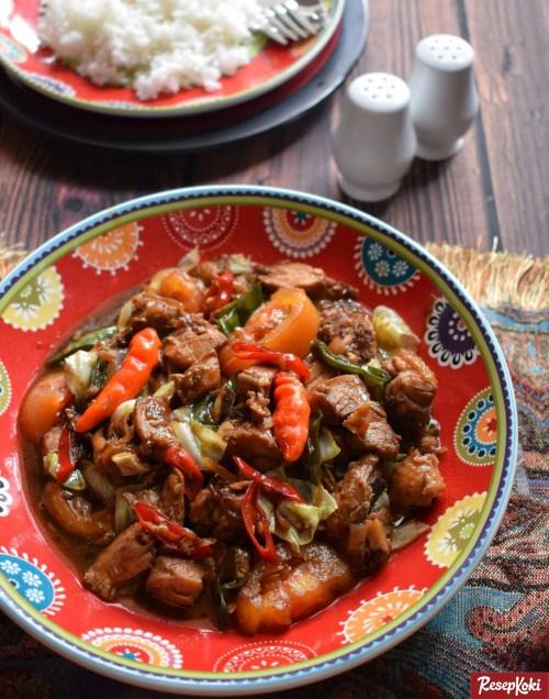 Gambar Hasil Membuat Resep Ayam Gongso