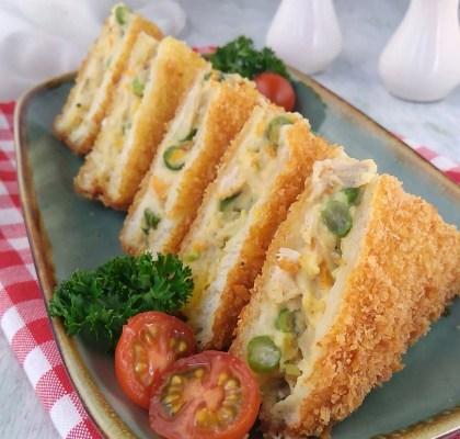 Roti tawar goreng ragout krispi