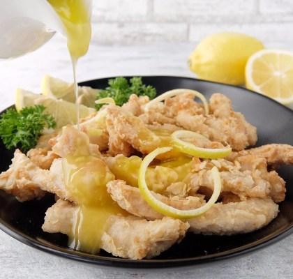 Ayam saus lemon segar
