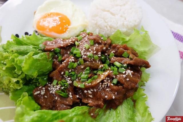 Gambar Hasil Membuat Resep Beef Daging Teriyaki