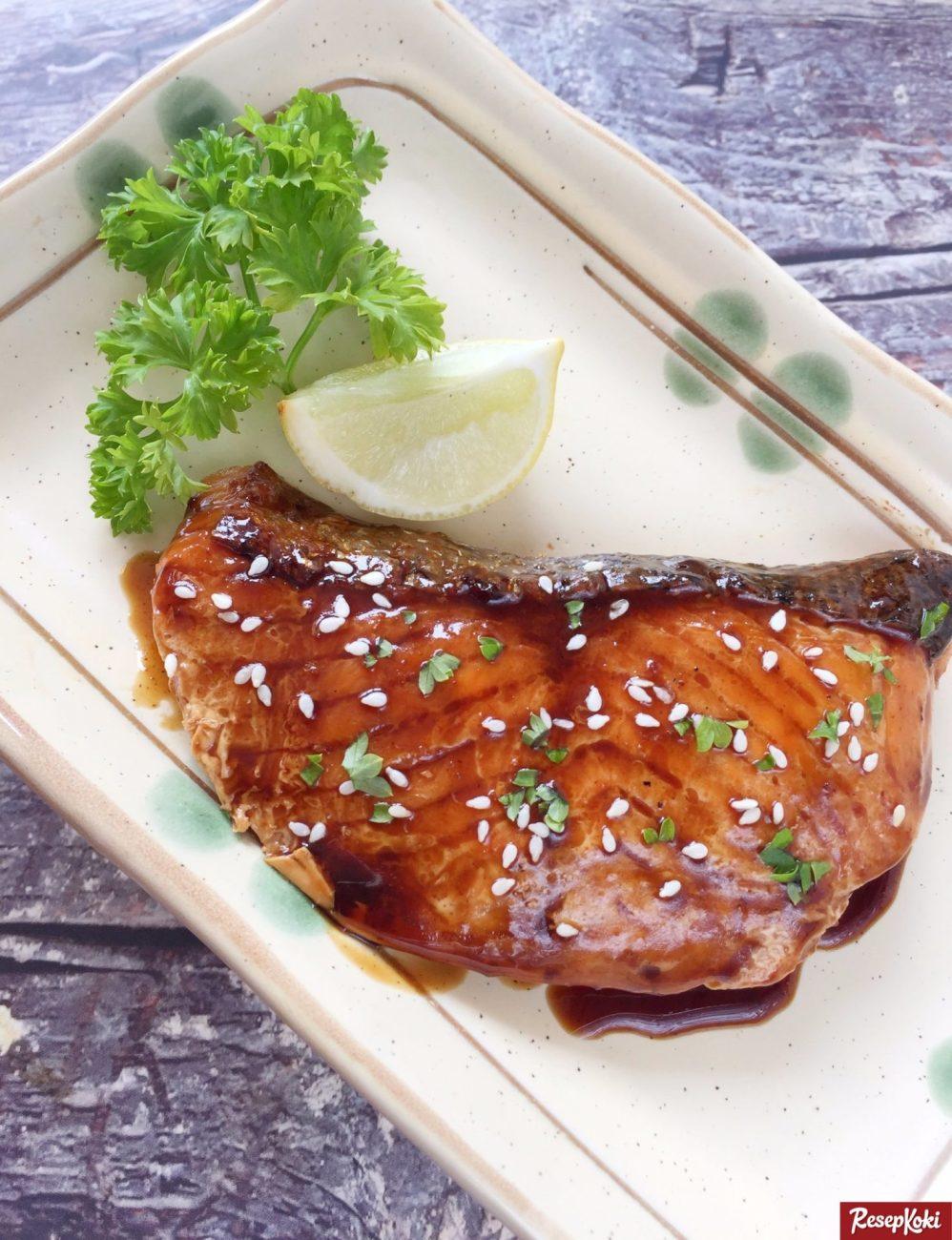 Salmon teriyaki jepang