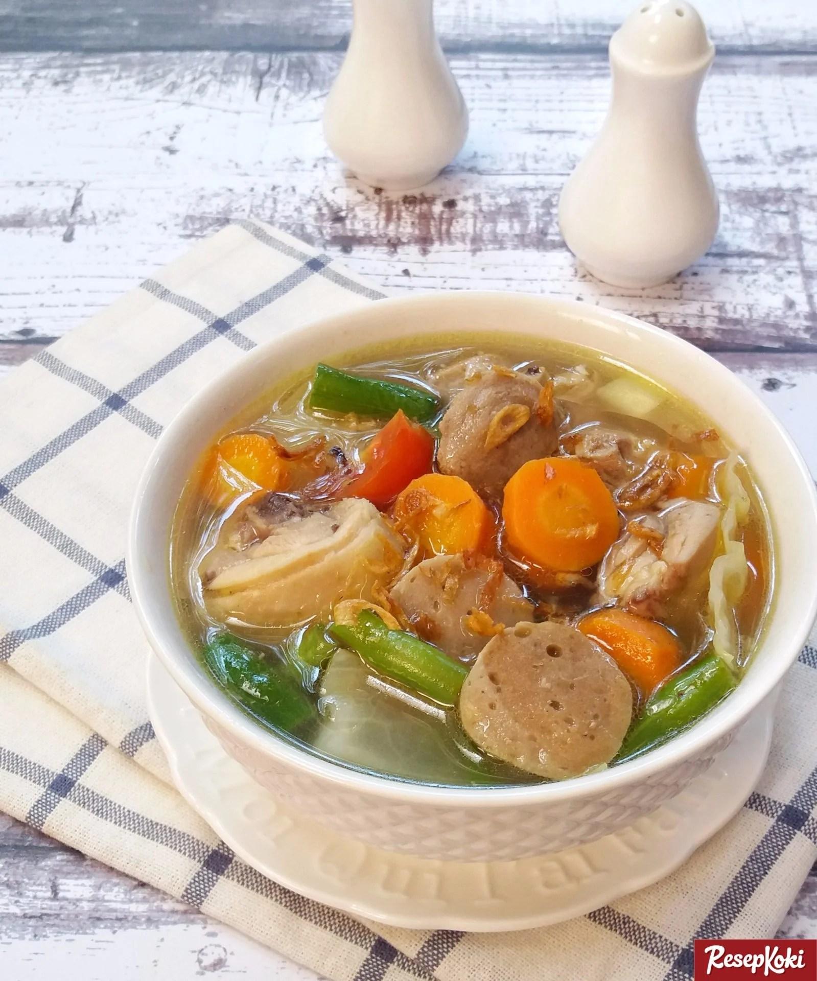 Resep Sayur Sop Yang Enak : resep, sayur, Bakso, Gurih, Segar, Istimewa, Praktis, Resep, ResepKoki