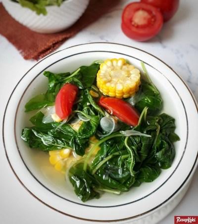 Gambar Hasil Membuat Resep Sayur Bayam Bening