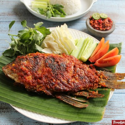 Ikan bakar bumbu bali sedap