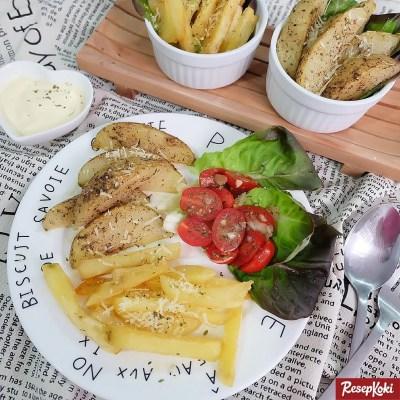 Gambar Hasil Membuat Resep Kentang Goreng (French Fries & Potato Wedges)