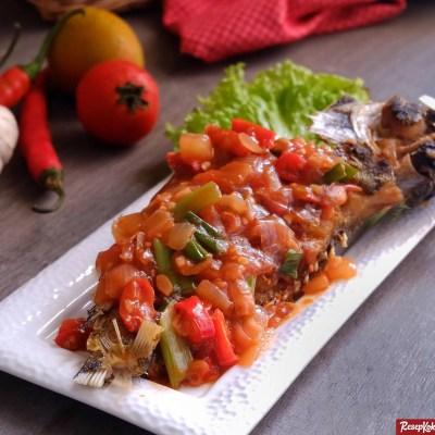 Ikan kerapu asam manis lezat