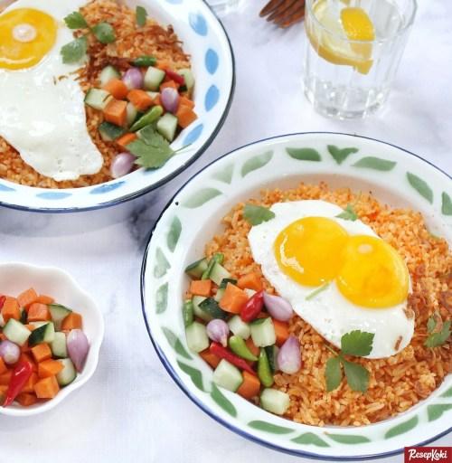 Gambar Hasil Membuat Resep Nasi Goreng Telur