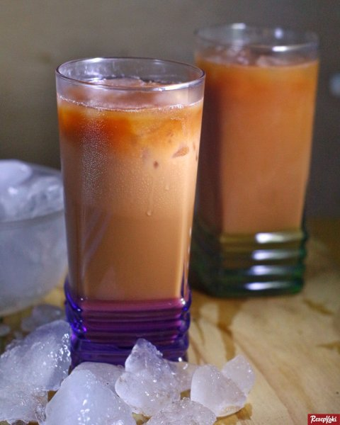 Gambar Hasil Membuat Resep Thai Tea
