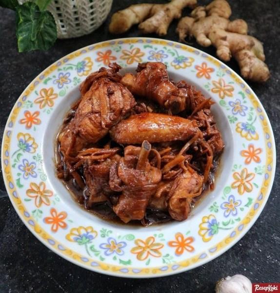 Gambar Hasil Membuat Resep Ayam Kecap Jahe