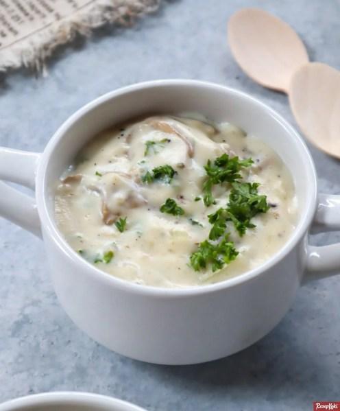 Gambar Hasil Membuat Resep Mushroom Soup