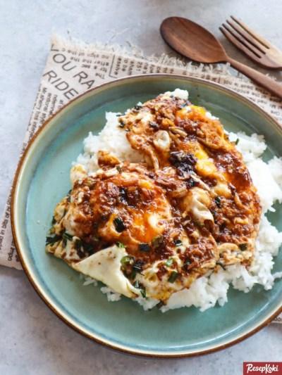 Gambar Hasil Membuat Resep Nasi Telur Pontianak