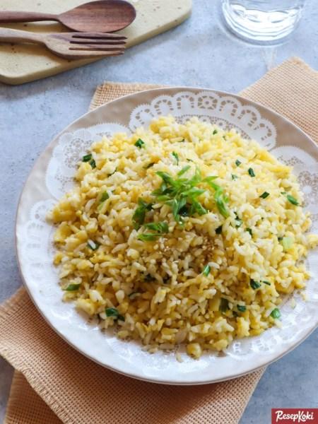 Gambar Hasil Membuat Resep Nasi Telur Korea