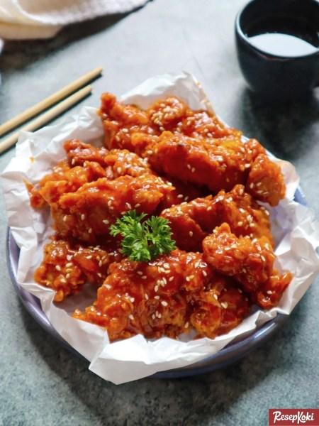 Gambar Hasil Membuat Resep Korean Spicy Chicken
