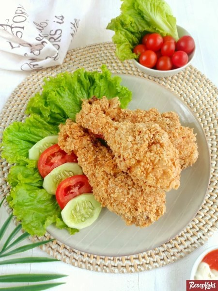 Gambar Hasil Membuat Resep Ayam Goreng Oatmeal