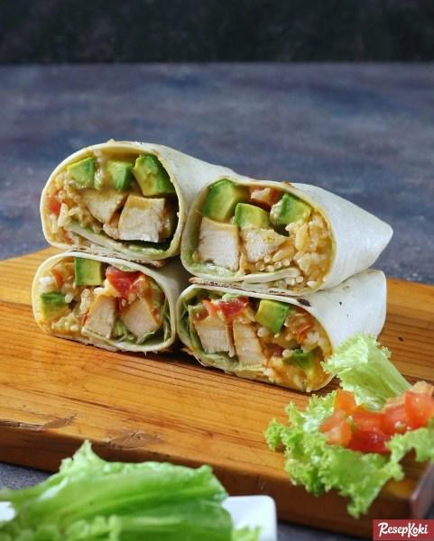 Gambar Hasil Membuat Resep Burrito Ayam