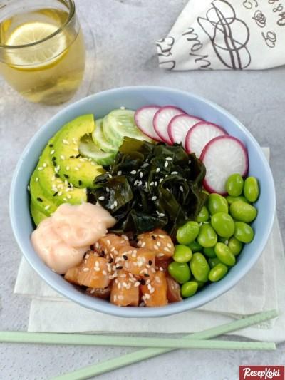 Gambar Hasil Membuat Resep Poke Bowl Salmon